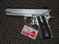 "SIG SAUER 1911 ""TRADITIONAL"" STAINLESS .45 ACP W/4-inch barrel and OFFICER'S MODEL GRIP-FRAME"