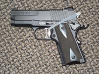 SIG SAUER 1911 ULTRA CMPACT .45 ACP PISTOL IN ALL BLACK