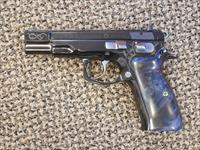 CZ HIGH-GRADE 40TH ANNIVERSARY MODEL 75B PISTOL IN 9 MM HAND-ENGRAVED