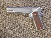 COLT 1911 CUSTOM GOVERNMENT MODEL .38 SUPER IN BRIGHT STAINLESS