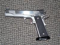 DAN WESSON CUSTOM STAINLESS .45 ACP PISTOL WITH FOUR MAGS