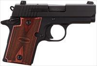 SIG P938 w Rosewood grips and night sights