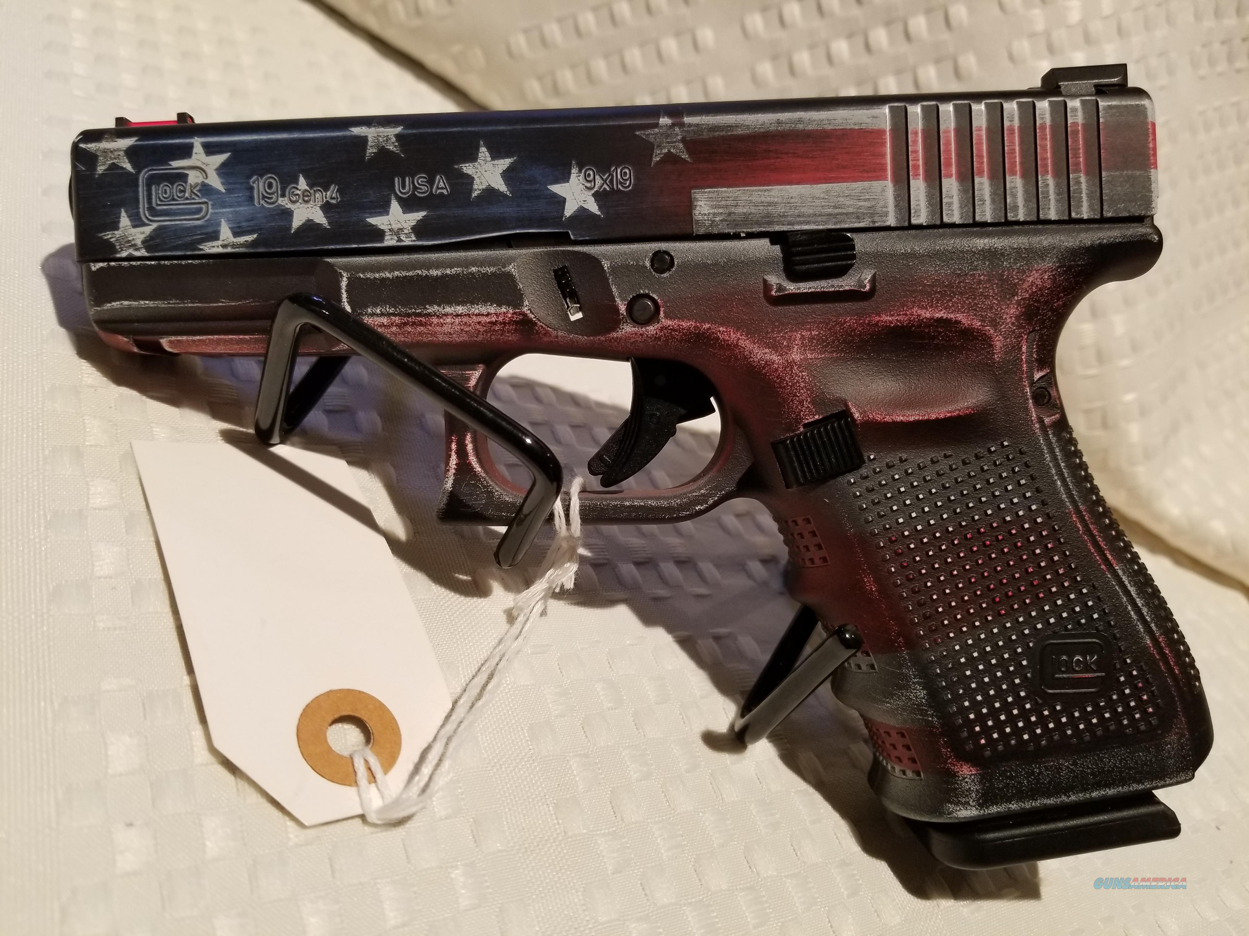American Flag Cerekote Gen4 Glock 19 Guns Pistols