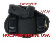 Leather IWB Dual Clip Pancake Holster Fits Glock, Taurus, Sccy, Hi-Point + More!