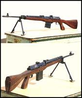 Hakim E2 rifle, Squad automatic version with E2 stock. Like an M14E2 pistol grip stock