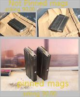 BM59 magazines, 2 pinned to 10 rnd for California, 2 not pinned