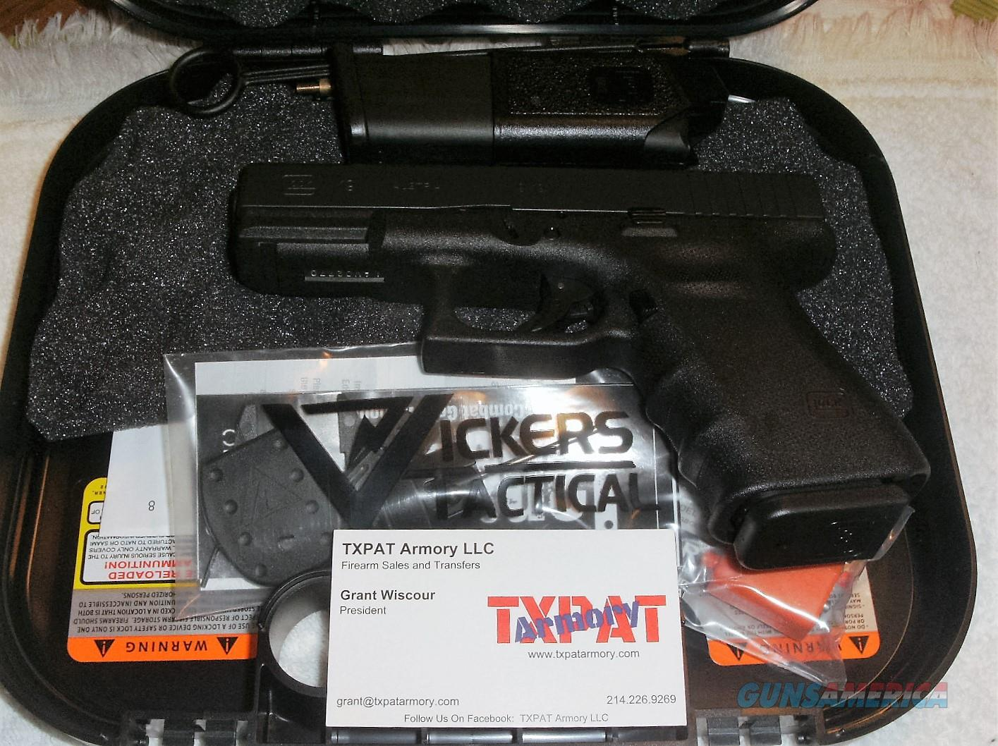 GLOCK 19 RTF2 VICKERS TACTICAL - LIPSEY'S EXCLUSIVE - ONE LEFT - TXPAT  ARMORY LLC