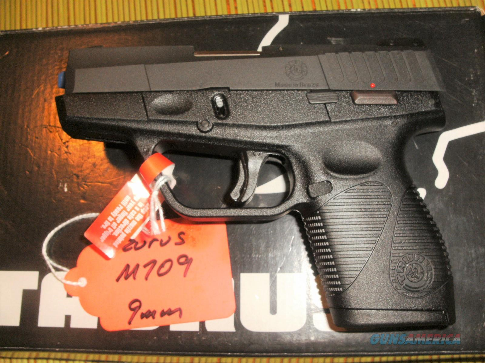 TAURUS 709 SLIM W/FREE LEATHER HOLSTER - GREAT 9MM FOR CCW - NEW IN BOX -  FAST PRIORITY SHIPPING - TXPAT ARMORY LLC