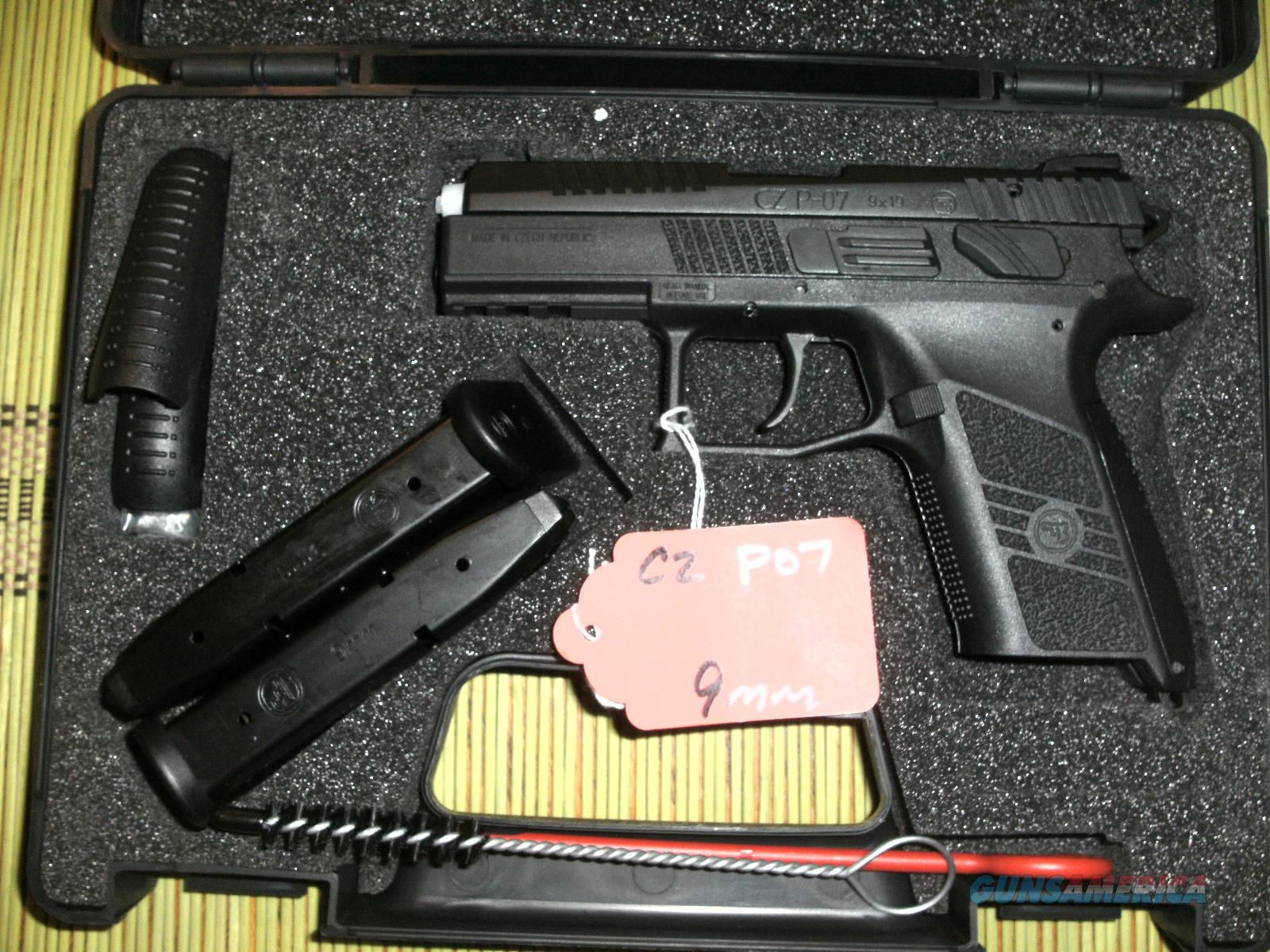 CZ P07 W/2 15 RD MAGS, BACKSTRAPS AND CASE - FAST PRIORITY SHIPPING - TXPAT  ARMORY LLC
