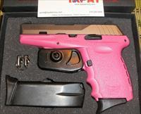SCCY CPX-2 - PINK & STAINLESS STEEL - 9MM - TWO 10 RD MAGS - NEW IN BOX W/TRIGGER LOCK - FAST $5.95 PRIORITY SHIPPING!