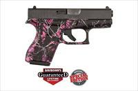 GLOCK 42 - PINK MUDDY GIRL CAMO - DAVIDSON'S EXCLUSIVE - LIFETIME GUARANTEE - NEW IN CASE - GREAT CCW - $9.99 PRIORITY SHIPPING - TXPAT ARMORY LLC