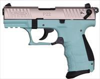 WALTHER P22 NICKEL &  TIFFANY BLUE W/TEN ROUND MAGAZINE - GREAT SHOOTING .22 LR - FAST PRIORITY SHIPPING - TXPAT ARMORY LLC