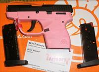 TAURUS 738TCP - PINK FRAME/BLK STAINLESS STEEL SLIDE -  .380 - 2 MAGAZINES - $14.99 PRIORITY SHIPPING! - TXPAT ARMORY LLC