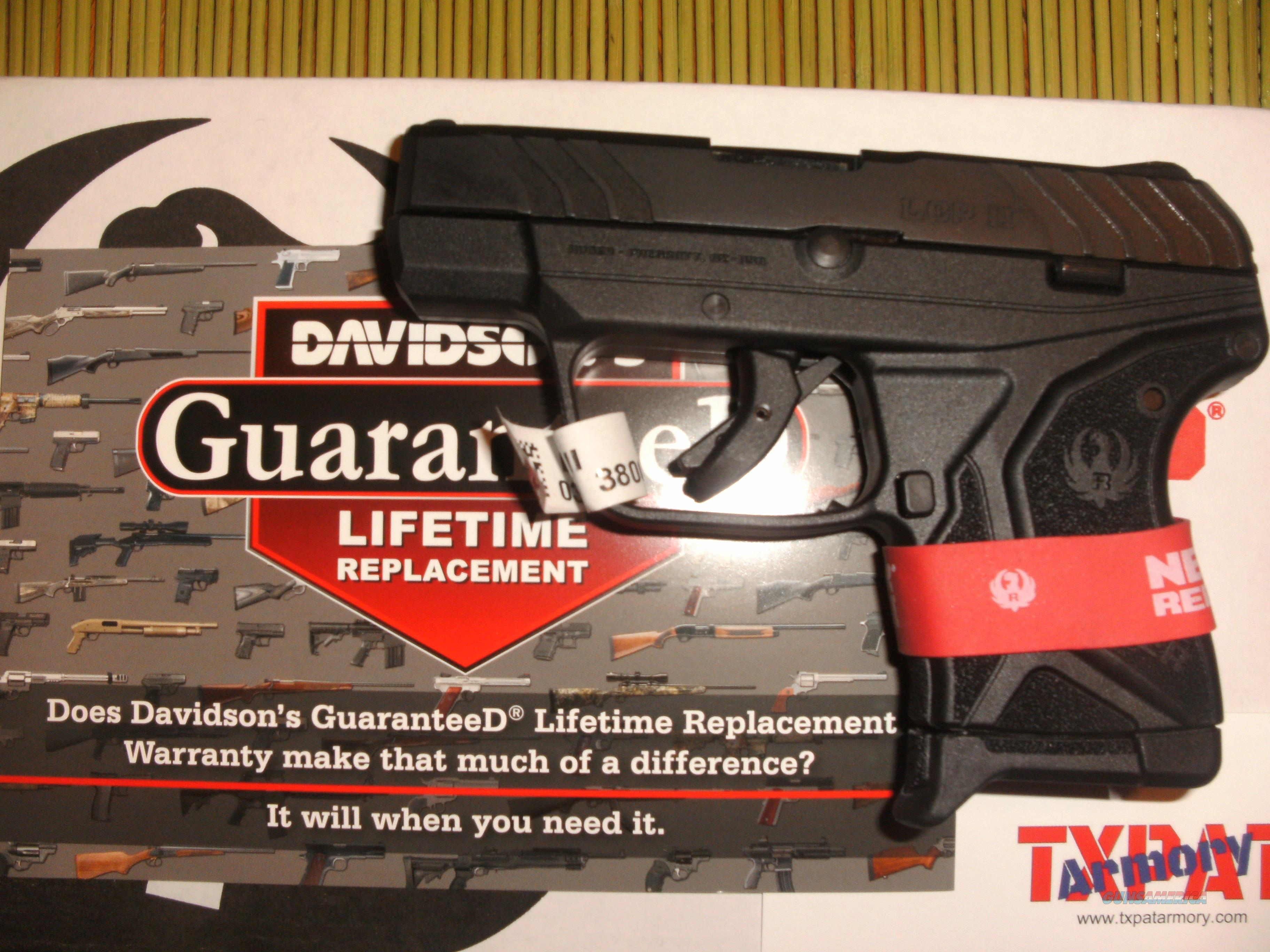 RUGER LCP II -  380 - FREE POCKET HOLSTER - NEW IN BOX - DAVIDSON'S  LIFETIME GUARANTEE - FREE PRIORITY SHIPPING! - TXPAT ARMORY LLC