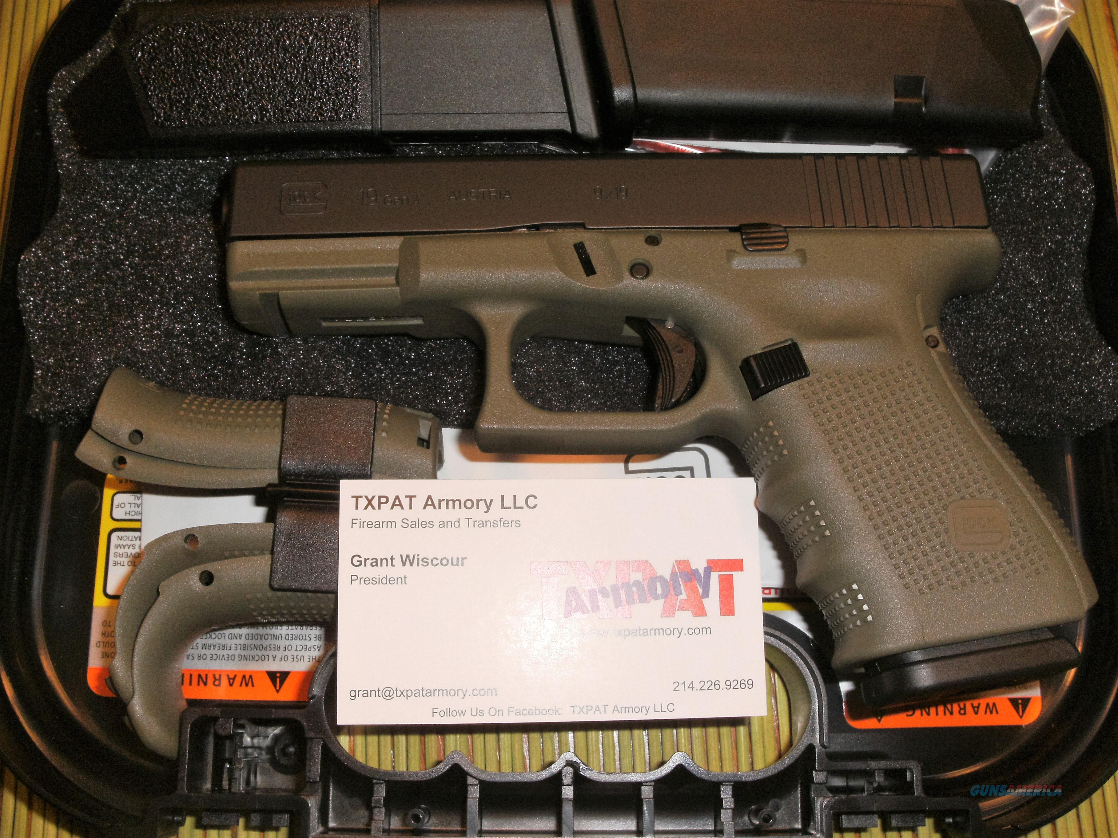Glock 19 gen 4 battlefield green frame new for sale 9057284g jeuxipadfo Gallery