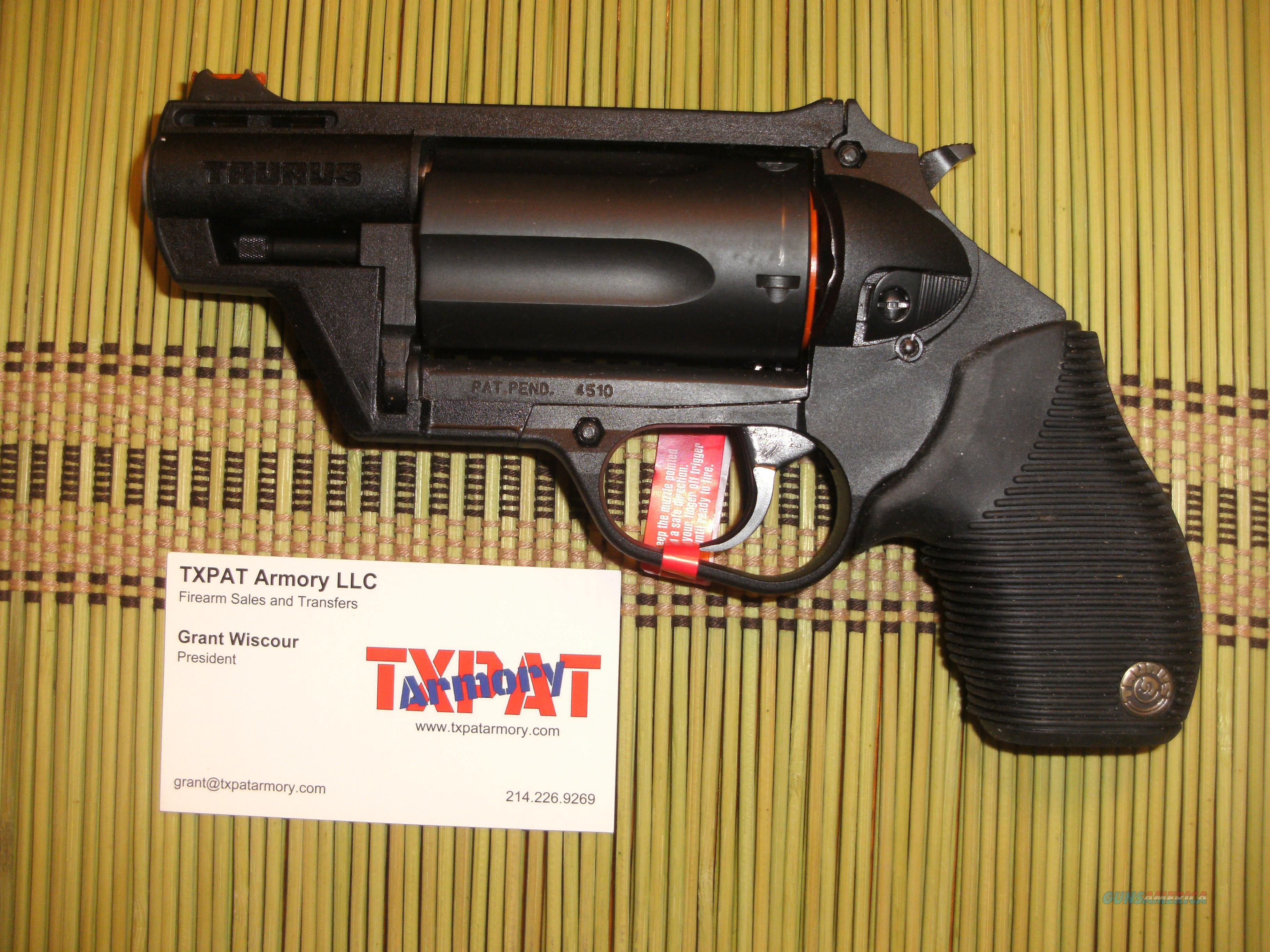 TAURUS JUDGE PUBLIC DEFENDER POLY  45LC/ 410 - FIBER OPTIC SIGHT - BIG  POWER IN SMALL PACKAGE
