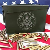 "BLACKHAWK! .50 Cal Ammo Cans Laser Engraved ""ARMY"" 30Cal 7.62 5.56 Ammo Milspec Cans NO FEES!"