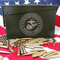 "BLACKHAWK! .50 Cal Ammo Cans Laser Engraved ""USMC"" 30Cal 7.62 5.56 Ammo Milspec Cans NO FEES!"