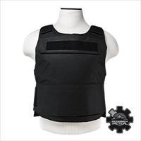 "VISM Tactical Discreet Plate Carrier Adjustable MED-2XL Black (2) 10""x12"" Level III Soft Plates Stops .44 Magnum!! SALE!! FREE SHIPPING!!"