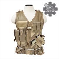 VISM Tactical Police Vest Pistol AR Mags Coyote  Vest Supports Rifle and Pistol Operations/Security FREE SHIPPING!!