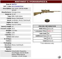 SAVAGE ARMS 93XP  22MAG CAMO RIFLE WITH SCOPE