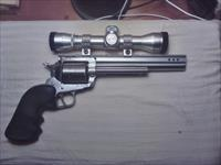 Used Ruger Super Blackhawk .44 magnum, 7.5 inch barrel, stainless, with scope