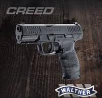 "Walther Creed 9mm 4"" Black 16rd*** NEW IN BOX***2815516"