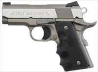"Colt Defender 1911 Semi Auto Handgun 9mm 3"" Barrel 8 Round Magazine Rubber Grip Fixed Sights Alloy Brushed Stainless"