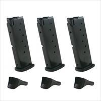 3 Pack of Factory OEM Ruger LC9, LC9S 7rd 9mm Magazines with Extensions 90363