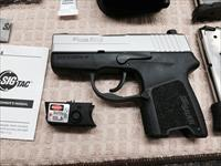 Sig Sauer P290RS Two-Tone, Like New in Box 9mm with Laser and Free Sneaky Pete Leather Holster