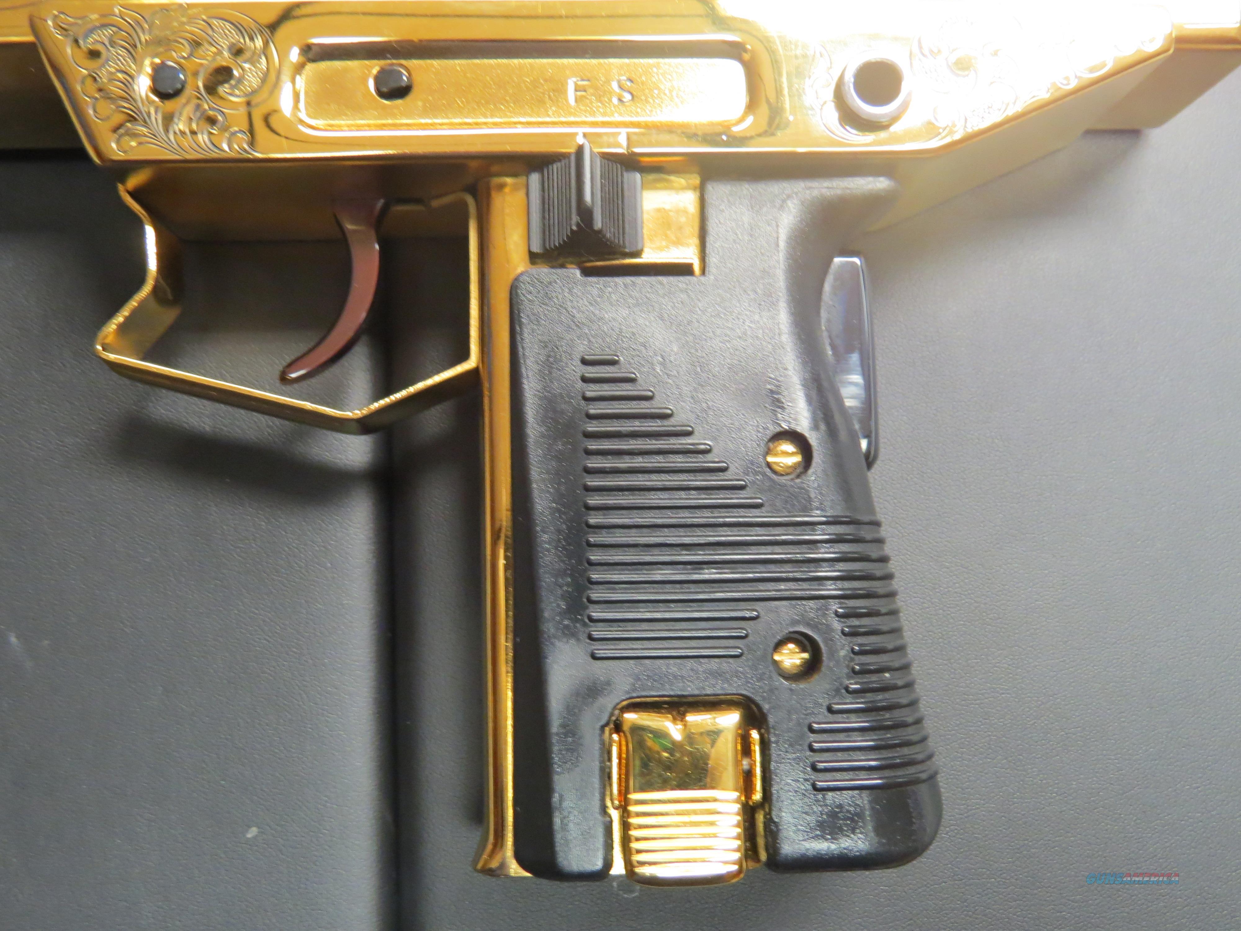Plated Gold uzi rare photo
