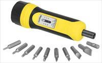 Wheeler Fat Wrench Tool, Adjustable Torque, Settings from 5-60lbs, 10 Bit Set, Black/Yellow 553-556