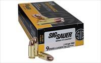 Sig Sauer Elite Performance Ball, 9MM, 115 Grain, Full Metal Jacket, 50 Round Box E9MMB1-50 - $9 Flat Rate Shipping on ANY Size Order