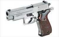 "Sig Sauer P220 Elite .45ACP Stainless Finish Wood Grips 8rd 4.4"" Barrel Fixed Night Sites 220R-45-SSE - New In Box"