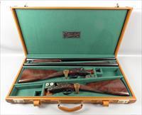 MATCHED PAIR OF GARBI 12 Ga SHOTGUNS in Leather Case