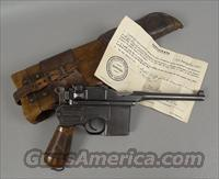 Commercial C-96 BROOMHANDLE MAUSER Pistol with Numbers Matching Shoulder Stock / Holster
