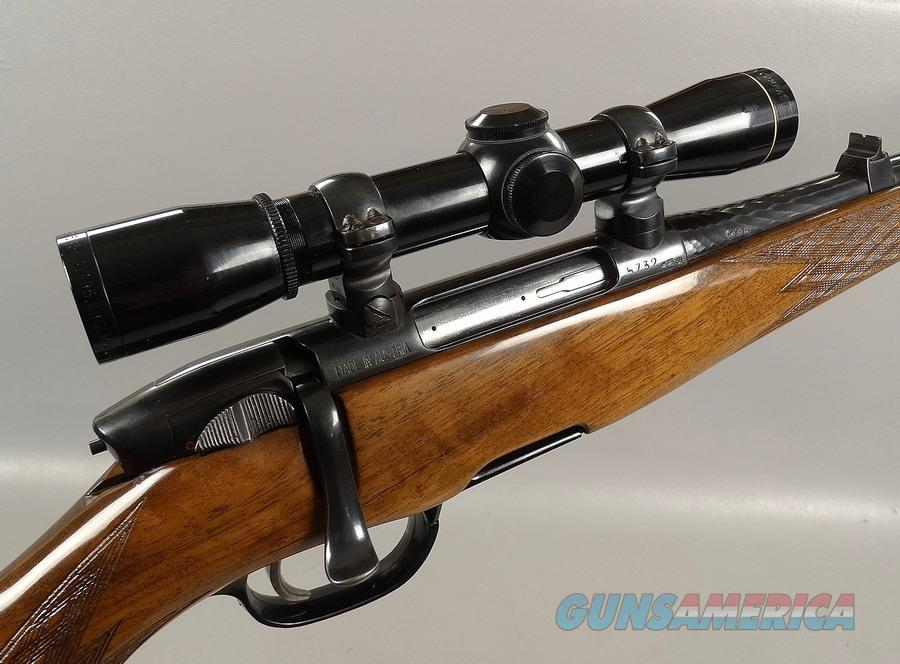 A VERY NICE Steyr Mannlicher Model L in 243 with Double Set Triggers and  Leupold Scope