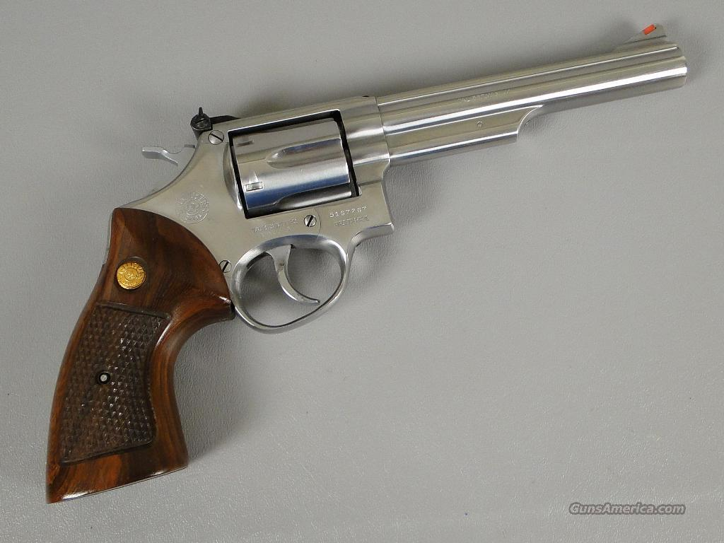 Taurus Model 66 357 Magnum 6 Inch barreled Stainless Revolver with Extra  Grips and Like New In Box