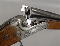 MERKEL Safari Double Rifle in 416 Rigby Side by Side in Leather Case