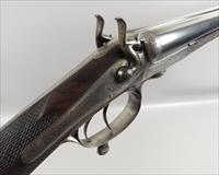 Antique E London Sleeved Engraved Underlever 12 Gauge SXS Hammer Shotgun