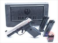 Ruger SR9 Stainless w/ Trijicon Night Sights
