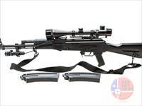 "GSG Kalashnikov AK-47 .22LR 17.5"", Black, Light, Scope"