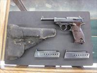 Walther P38 9mm Matching Serial Numbers, Nazi Stampings, Nazi holster included.