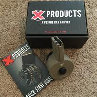 X-Products X-15 50rd Drum Magazine Color FDE-For AR-15 rifles