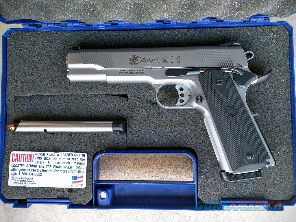 smith wesson sw1911 stainless fullsize 1911 4 for sale rh gunsamerica com Taurus 1911 Sig Sauer 1911