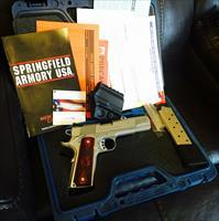 "Springfield Armory 1911 A-1 .45 5"" Stainless or 6"" ported w/ upgrades and extras"