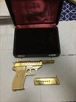 Walther P 38 gold engraved