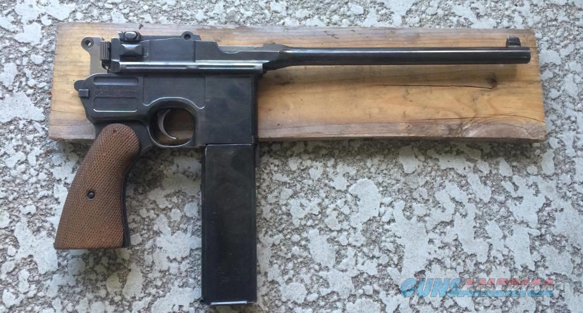 mauser c96 broomhandle 9mm luger pistol unique for sale