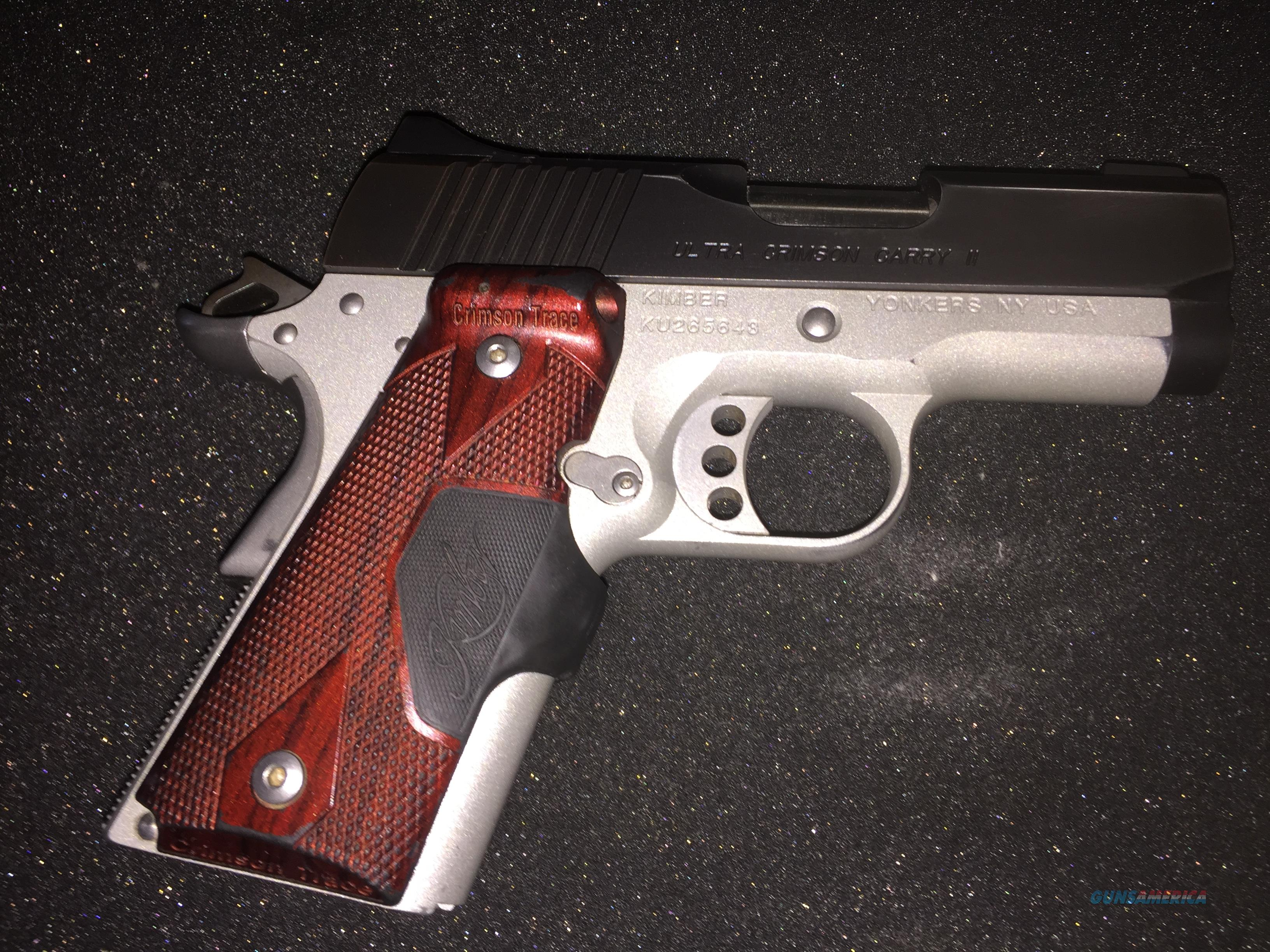 GREAT DEAL!!!!!Used Kimber Ultra Crimson Carry ii/2  Internals like new  only 200 rounds shot Some holster wear on slide!!