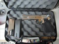 BROWNING HI POWER 9mm Made in Belgium Chrome Gold Accents Excellent